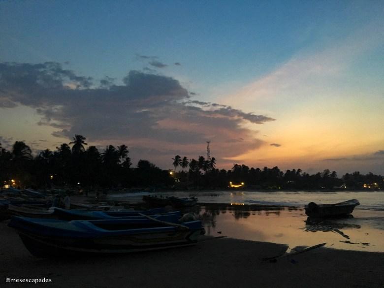 Coucher de soleil sur les plages d'Arugam Bay