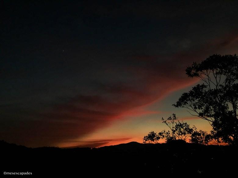 Le coucher de soleil à Ella