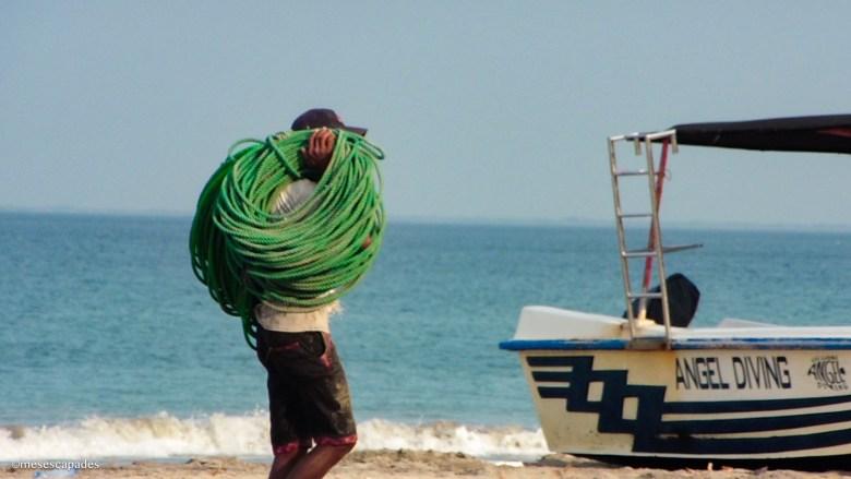 Observer les pêcheurs sri lankais sur la plage