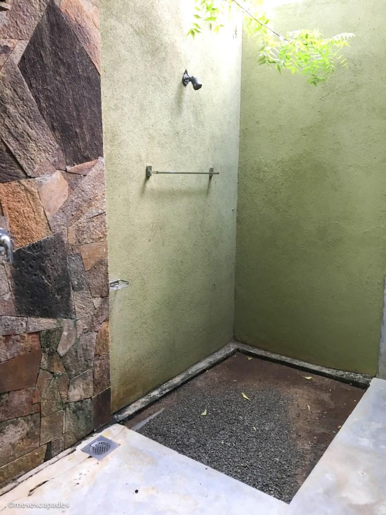 Salle de bain ouverte au Sri Lanka