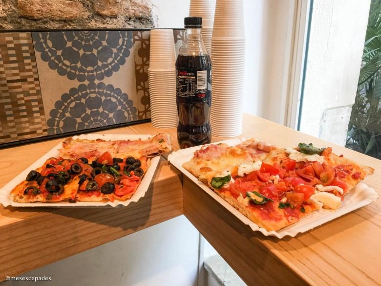 Pizza al trancio à Rome