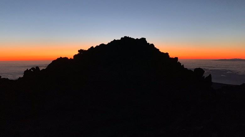 Lever du soleil sur le pic du Teide