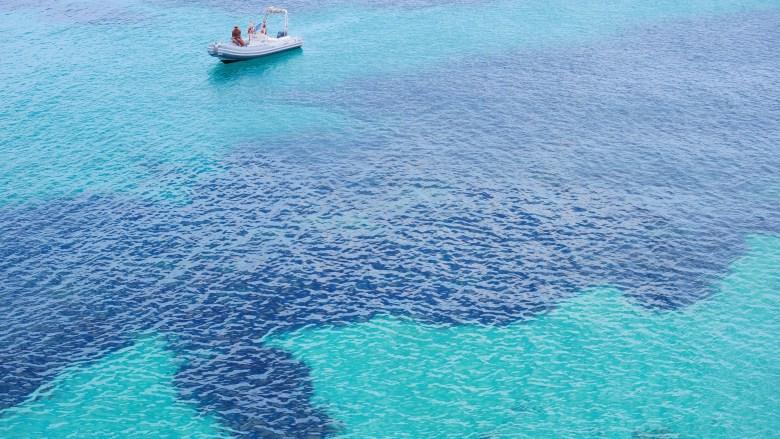 La Cala Blue Marino de l'île de Favignana.
