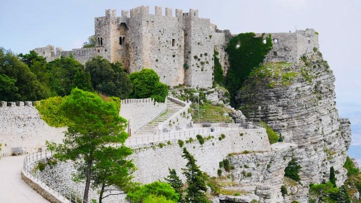 Le beau château de Vénus à Erice.