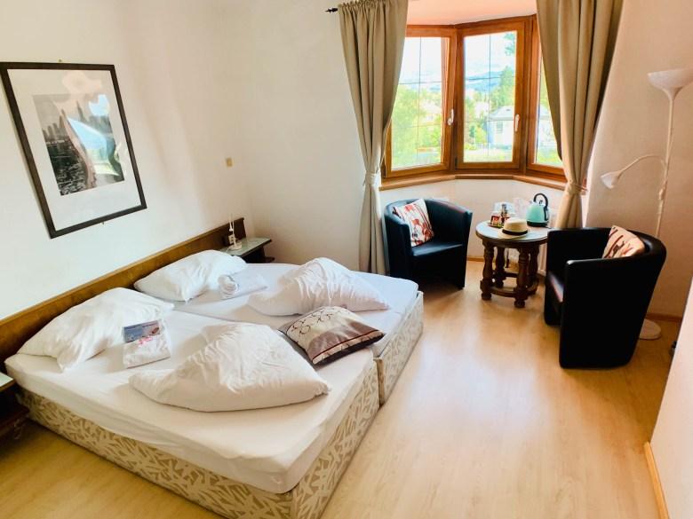 La chambre du bed & breakfast, le B&B Hotel Heimgartl