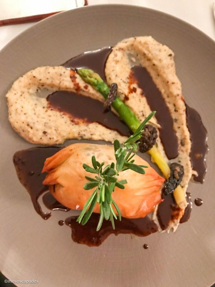 Feuilleté de veau et foie gras avec sa purée de topinambour - Côté Saveurs, Orléans