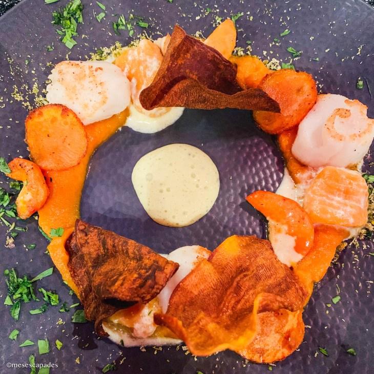 Noix de St-Jacques, gnocchis de patate douce - Lift, Orléans