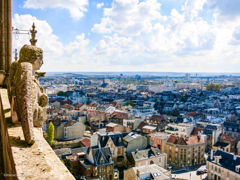Vue depuis les hauteurs de la cathédrale de Reims
