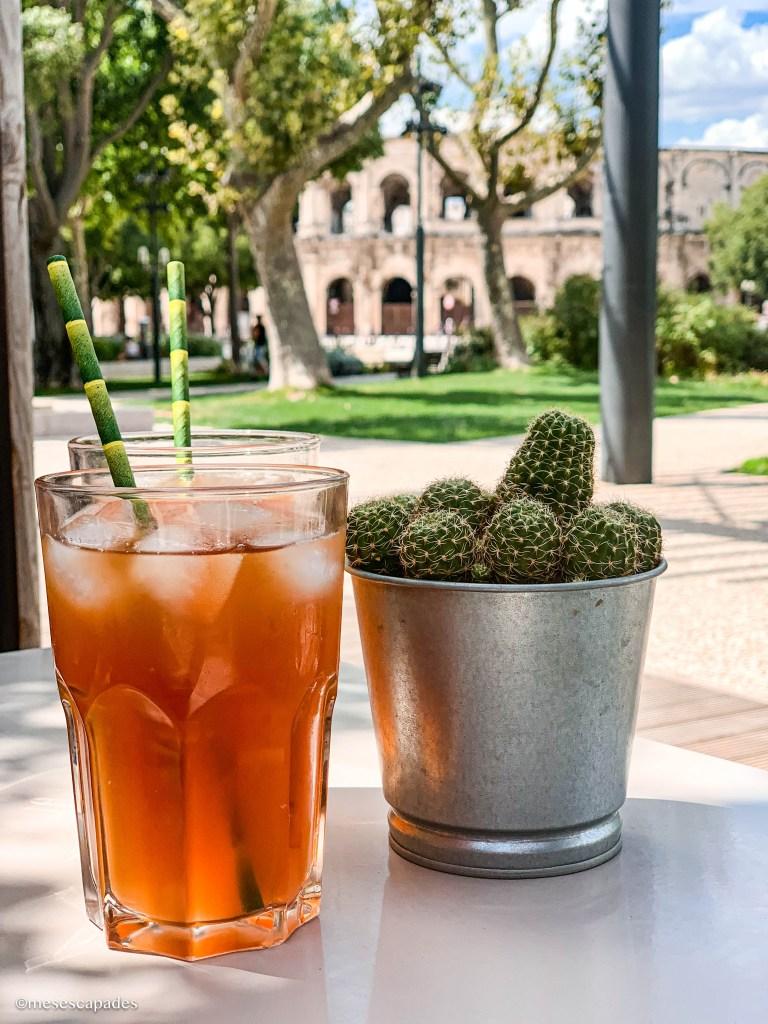 Thé glacé à Nîmes