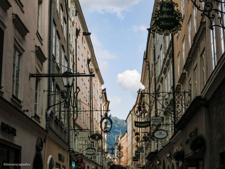 Les ruelles du coeur historique de Salzbourg