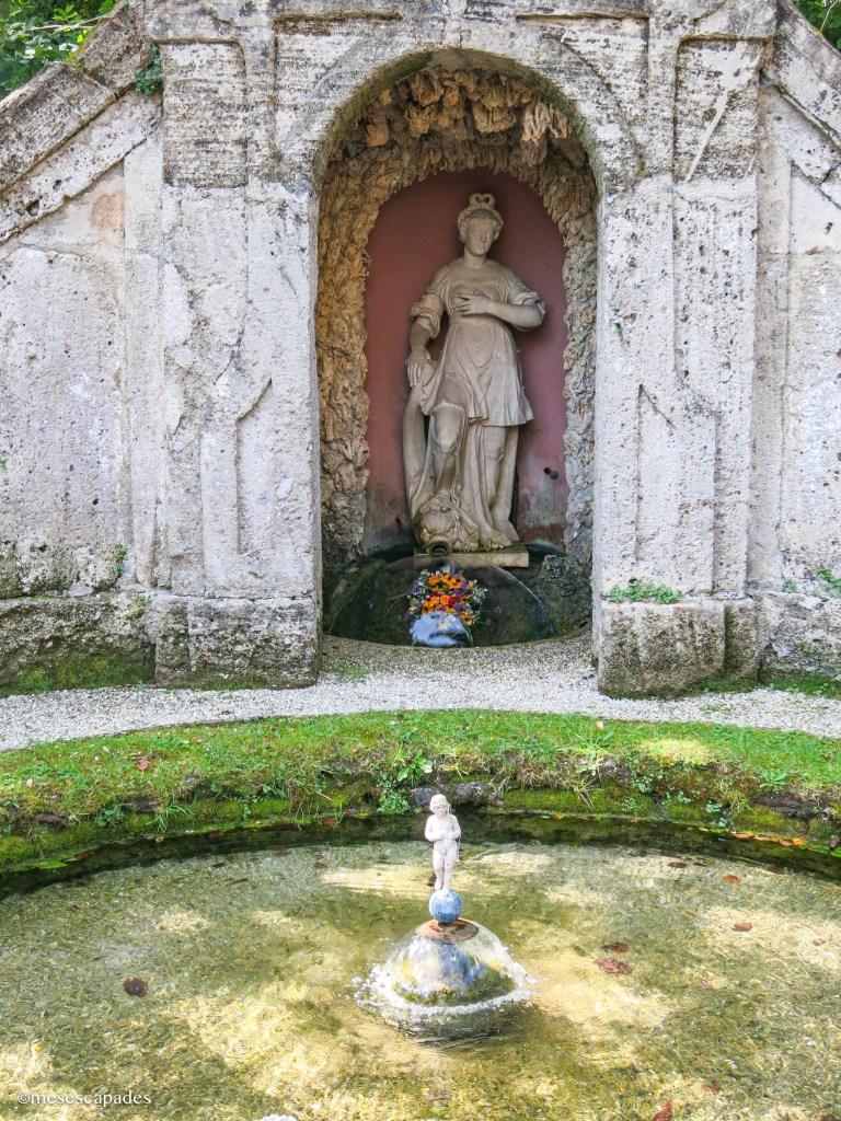 Les trick fountains de Hellbrunn