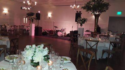 Wedding band p.a. system at Matty's Green Pastures