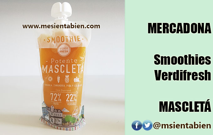 MERCADONA SMOOTHIE VERDIFRESH: MASCLETA