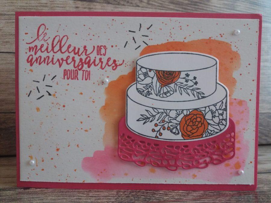Carte anniversaire aquarelle