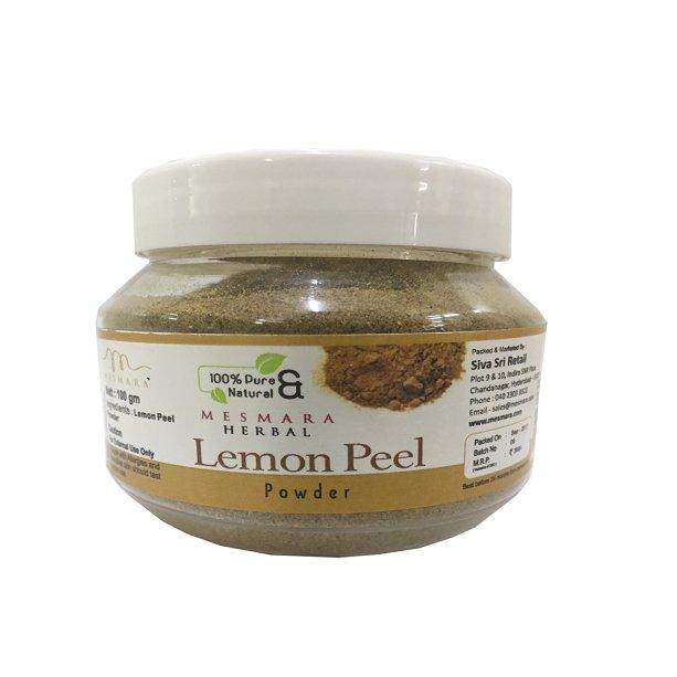 lemon peel powder for skin