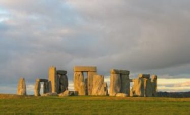Stonehenge in low winter light, December 2004