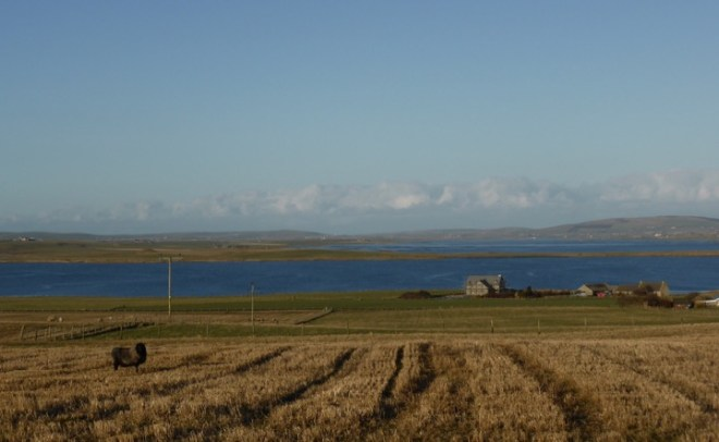 Orkney andscape across the lochs