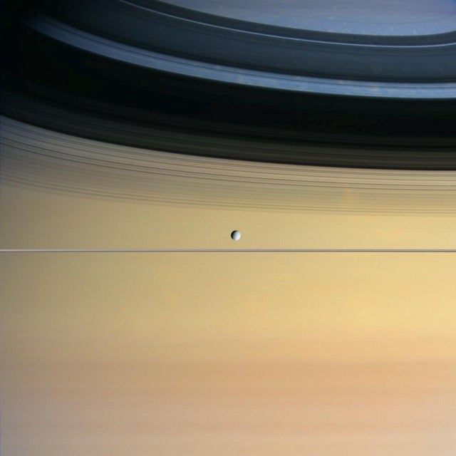 Dione: a small moon with an inner ocean?