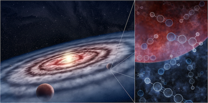 Huge deposits of life-precursor molecules discovered on formation planets