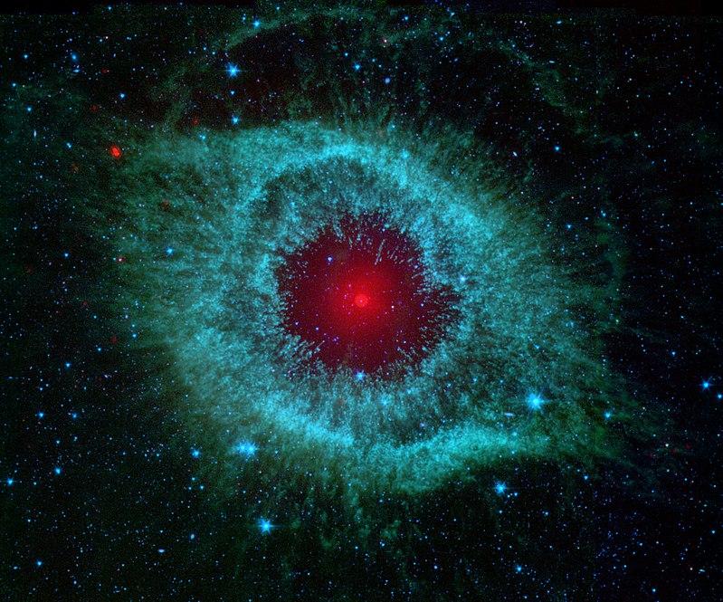 A binary star in Sauron's 'pupil'