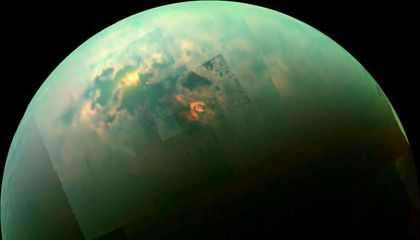 There are also dry seas and lakes on Titan, Saturn's largest moon