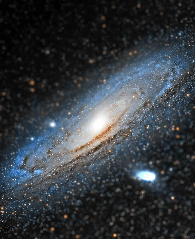 This is how will be our collision with Andromeda