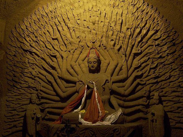 Thousand armed Avalokitesvara bodhisattva