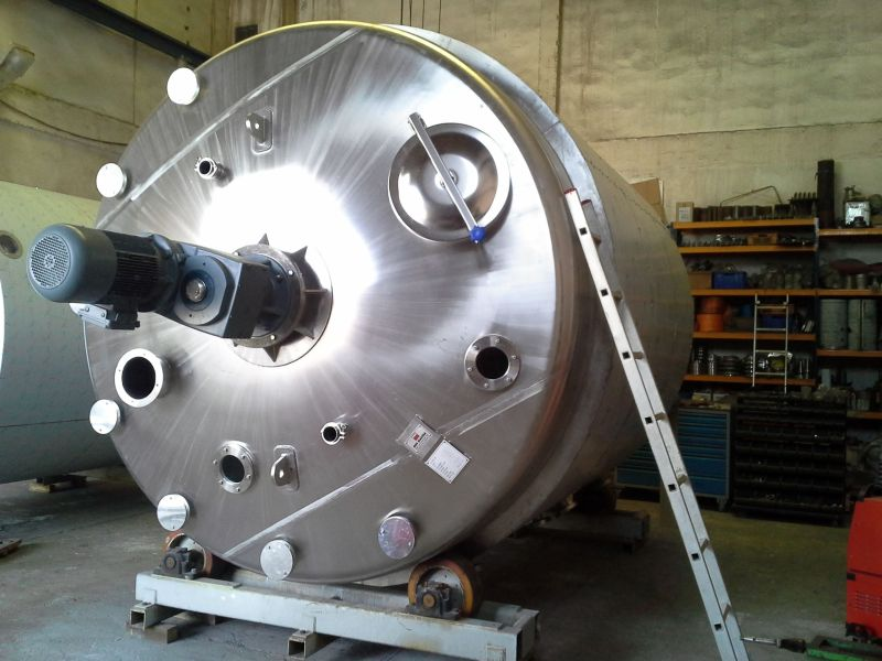 ECOLAB - 20m3 serpantin ve izolasyonlu kimyasal reaktör mikser tank