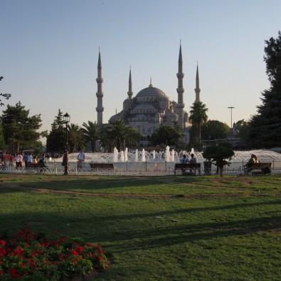 La Mosquée Bleue au couchant