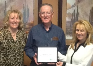 Left to right: Gaye Stockman, President & CEO, Mesquite Regional Business, Inc.; George Gault, Chair of the Board, Mesquite Regional Business, Inc.; Alison Rachiell, Mortgage and Marketing Specialist, Nevada Rural Housing Authority