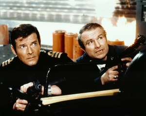 Roger Moore and Shane Rimmer in The Spy Who Loved Me. Courtesy of Shane Rimmer.