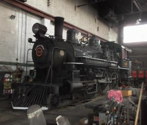 Steam locomotive at the Nevada Northern Railway, Ely, Nevada - July 2014