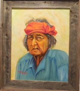 Hosten Tso, Medicine Man, by Rosemary Iliano, Boulder City Art Guild