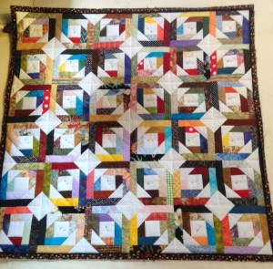 This spectacular quilt will be won by a lucky person who participates in the fundraising raffle and silent auction at the Mesquite Fine Arts Gallery. Submitted photo.