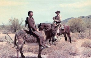 4. For What We Are About to Receive - the Thanksgiving episode. Henry on the burro with Leif Erickson on the horse in the background.