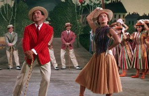 1. Gene Kelly and Leslie Caron in An American in Paris (color)