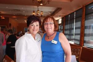 Outgoing President Jan Martin (right) with incoming President Darlene Carpenter (left)