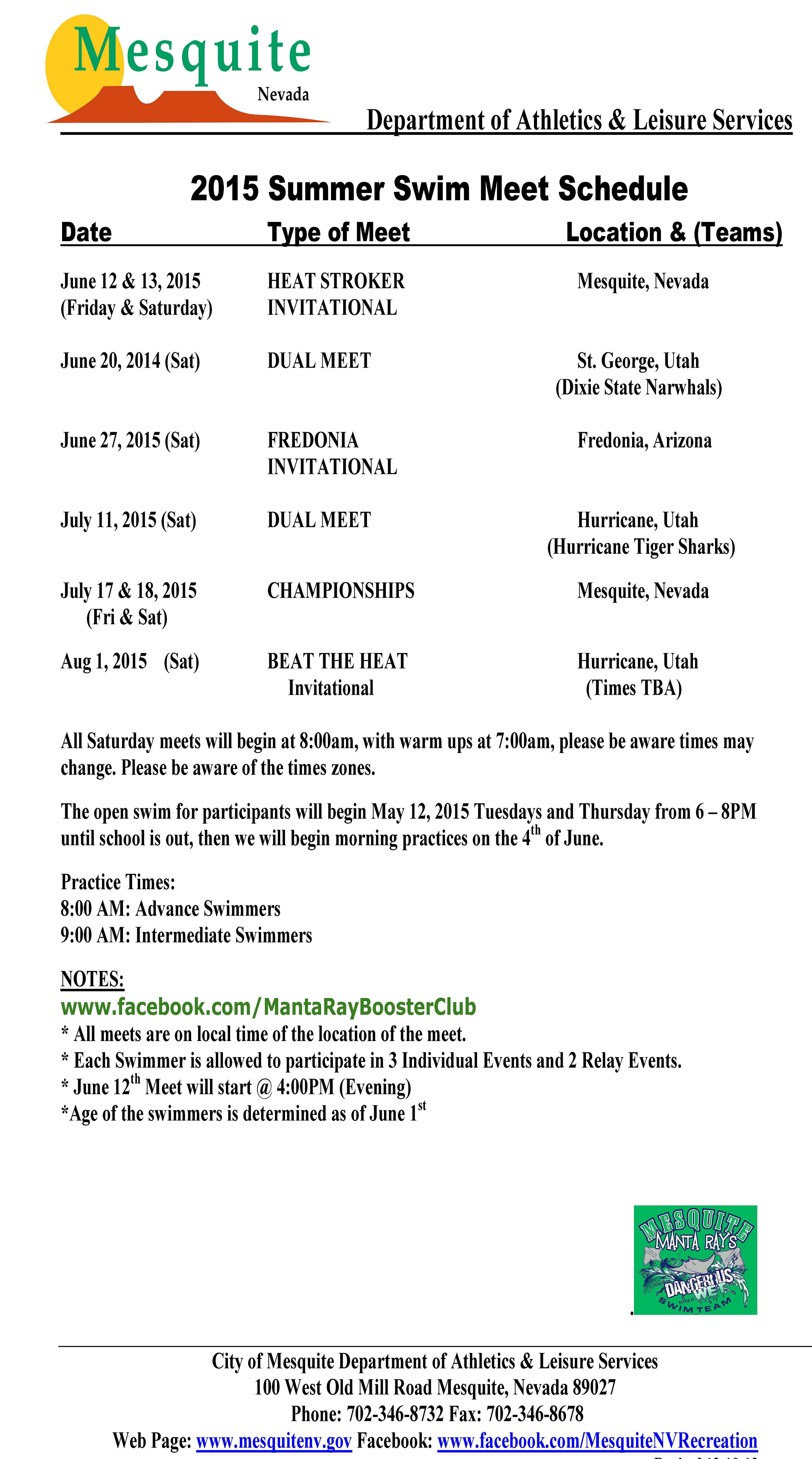 condors swimming meet schedule