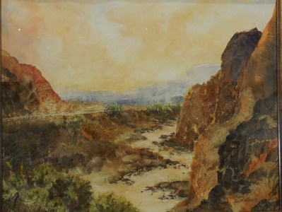 Jan E. Hansen watercolor painting, The Journey, won Best of Show at the Mesquite Fine Arts Gallery. She painted to the poetry of Lin Floyd.