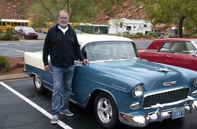 The classic award winning 1956 Chevy of Ed Stoiber