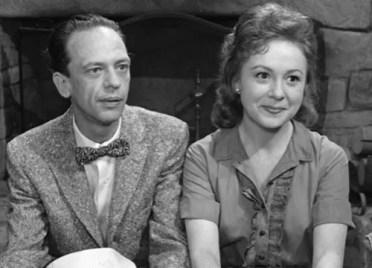 Don Knotts and Betty Lynn - screen shot from The Andy Griffith Show