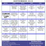 Senior Center Menu September 2015