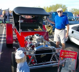 New Mesquite resident Ed Rino entered his customized 1923 Ford T-Bucket in the annual Rotary Car Show and Chili Cook-off Saturday, Oct. 24 at the Eureka Casino Resort. Photo by Burton Weast.