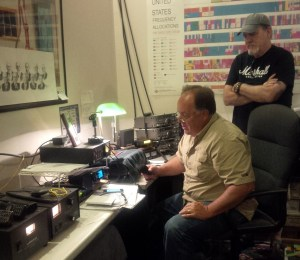 Theron Jensen, left, and Steve Hoff work with ham radios as part of the Virgin Valley Amateur Radio Club. Photo submitted.