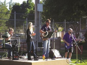 The Calvary Chapel Band, who are the headliners for the Mac-Spec-Tac Christmas concert, recently performed at the Harvest Festival on Nov. 7 and drew a good crowd with their upbeat music.  Photo Teri Nehrenz.