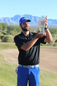 Tom Whitney holds the 2015 Nevada Open crown after besting a field of 209 golfers. Whitney shot a three-day total of 202 finishing 14 under par at the CasaBlanca Golf Course in Mesquite. Photo by Barbara Ellestad.