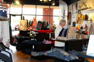 The Mesquite Chamber of Commerce held yet another successful cash mob at 2Da9z clothing store on Jan. 23.  Chamber member Brenda Snell said there was a steady stream of customers all day long buying up the $20 deals. Photo by Teri Nehrenz.