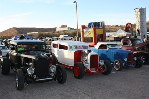 Hot rods from various decades lined the parking lot at the 2015 Mesquite Motor Mania. The annual event begins Friday, Jan. 15 through Sunday, Jan. 17. Photo by Lou Martin.