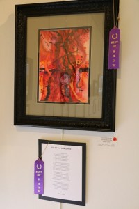 """Second place prize winners in the April Artists and Poets exhibit at the Mesquite Fine Arts Gallery were artist Boots Nelson for his """"Icicles in the Window"""" and poet D. Gary Christian for """"December Days."""" Photo by Barbara Ellestad."""