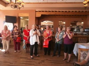 The Desert Dames celebrated and honored incoming and past presidents at their monthly luncheon on March 23. New President Wendy Lauer is shown with some of her board members. Photo submitted.